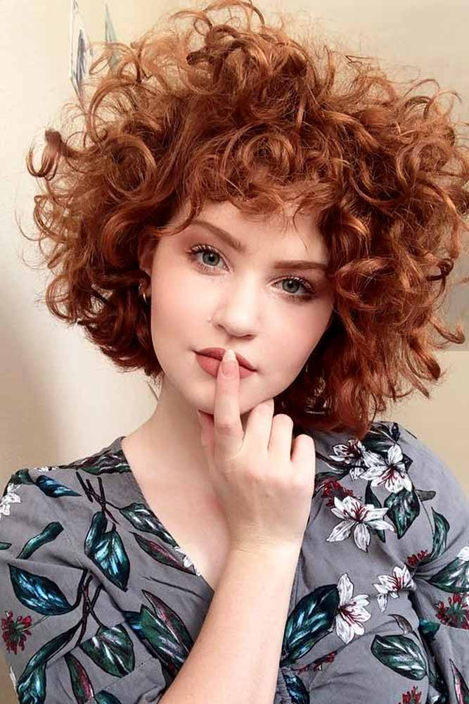 Auburn Short Bob #shortcurlyhairstyles #curlyhairstyles #hairstyles