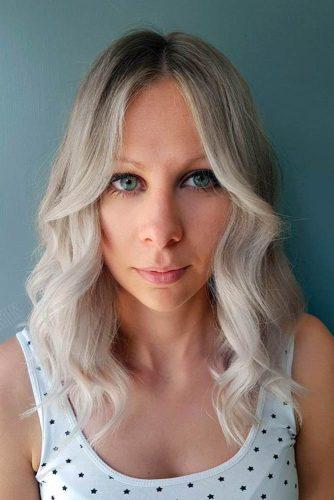 Face-Shape Blonde Waves