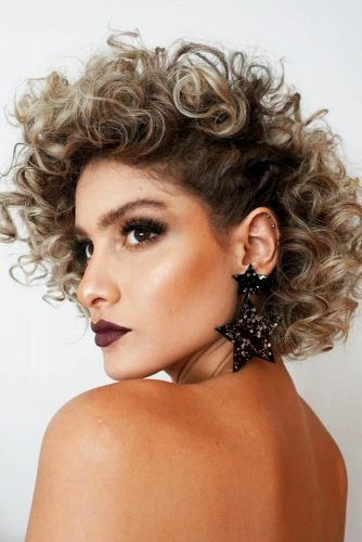Side Swept Curly Hairstyle #shortcurlyhairstyles #curlyhairstyles #shorthairstyles #hairstyles #bobhairstyles