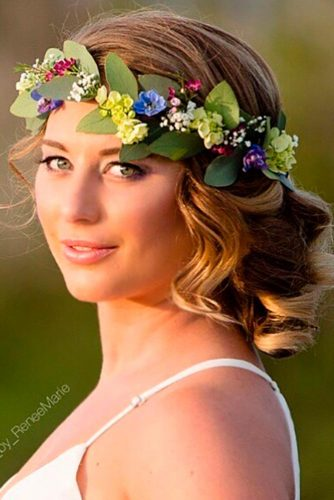 Vintage Updo with a Handmade Flower Crown