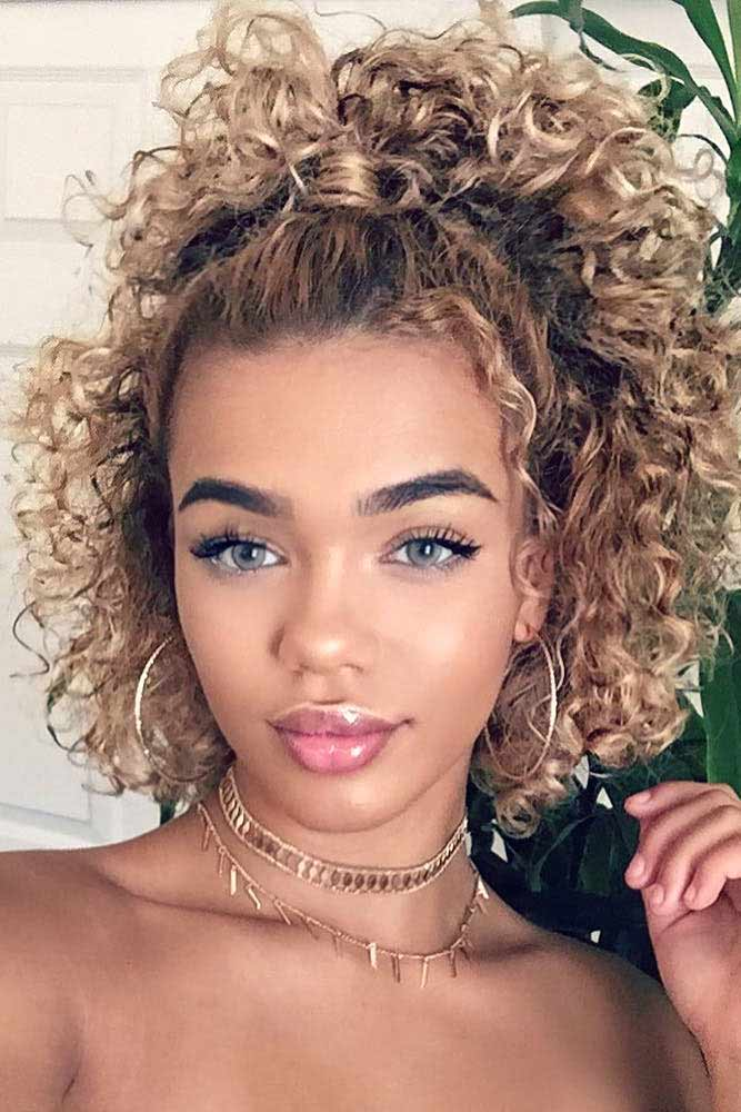 Half Up Ponytail For Curly Hair