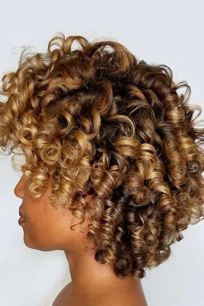 Choppy Layers With Balayage #shortcurlyhairstyles #curlyhairstyles #shorthairstyles #hairstyles #bobhairstyles