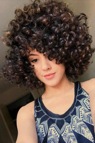 Tousled Curls #shortcurlyhairstyles #curlyhairstyles #shorthairstyles #hairstyles #bobhairstyles