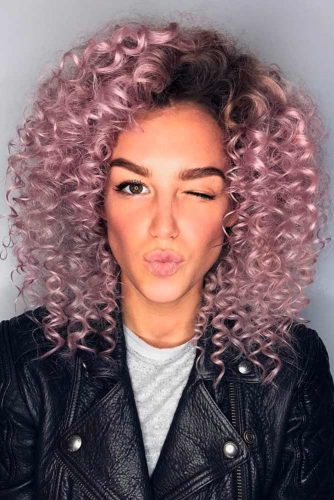 Small Pink Volume Curls