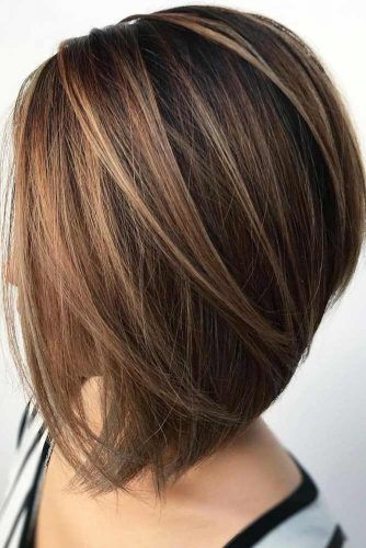 Angled Straight Lob #haircuts #faceshape