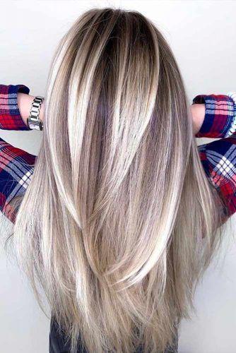 Long Straight Layers #haircuts #faceshape