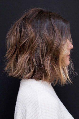 Shoulder Length Shag #haircuts #faceshape