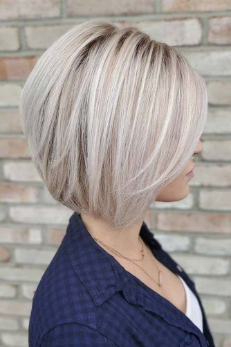 Straight Medium Bob #haircuts #faceshape