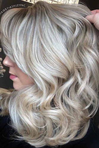 Wavy Medium Length Hair #haircuts #faceshape