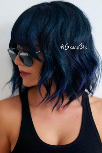 Bob Haircuts with Thick Bangs picture1