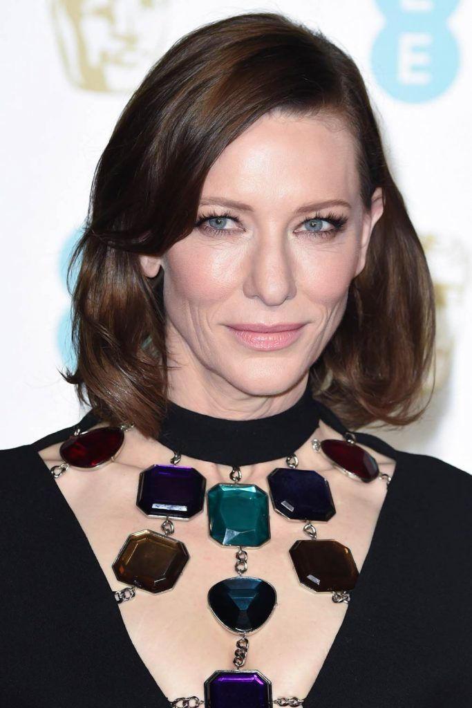 Cate Blanchett: Side Swept Long Bangs #hairstylesforwomenover50