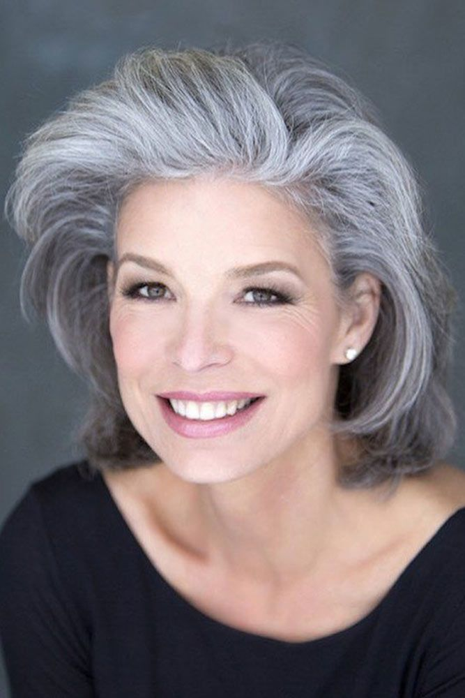 Grey Bob Short Hairstyles For Women Over 50 #bob #wavyhair