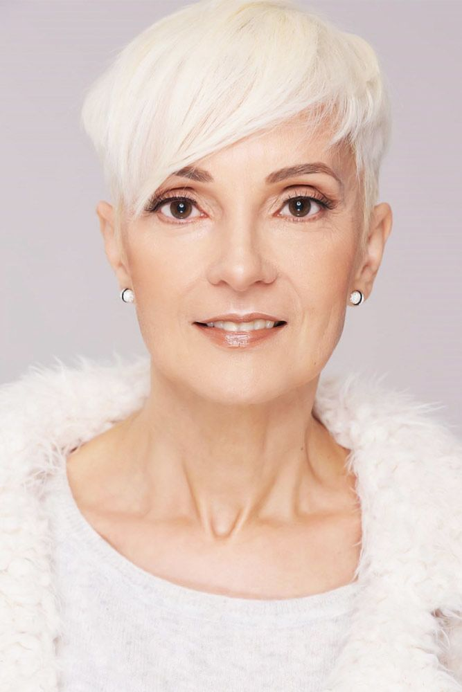 Long Side Bang Pixie #pixie #hairstylesforwomenover50