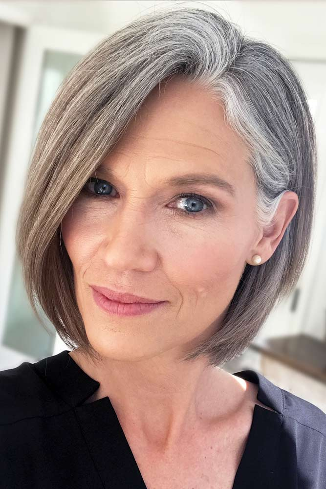 Grey Short Bob Hairstyle