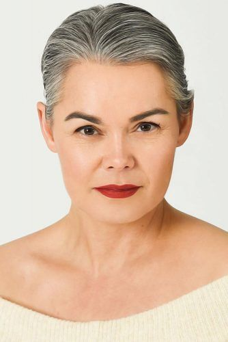 Sleek Pixie With Side Part #hairstylesforwomenover50
