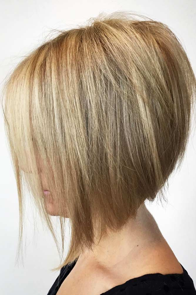 Chesnut Straight A-line Bob Short Hairstyles For Women Over 50 #bob #straighthair