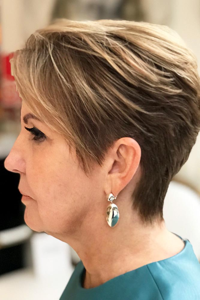 Dark Blonde Pixie Short Hairstyles For Women Over 50