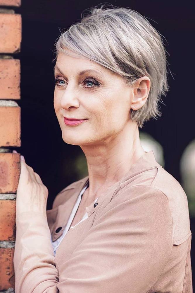 Tapered Sleek Short Hairstyles For Women Over 50 #pixie #layeredhair
