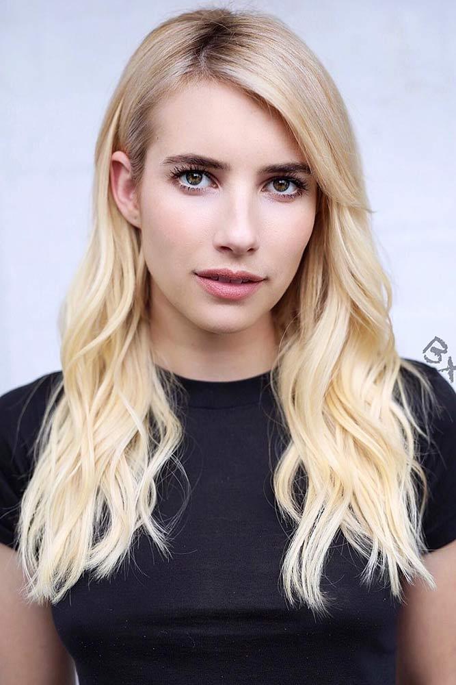 Blonde Side Swept Bangs For Long Hair #sidesweptbangs #longhair #haircuts