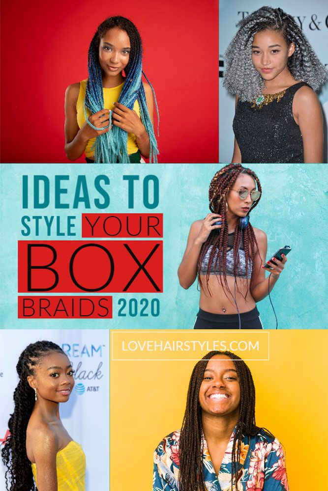Ideas To Style Your Box Braids