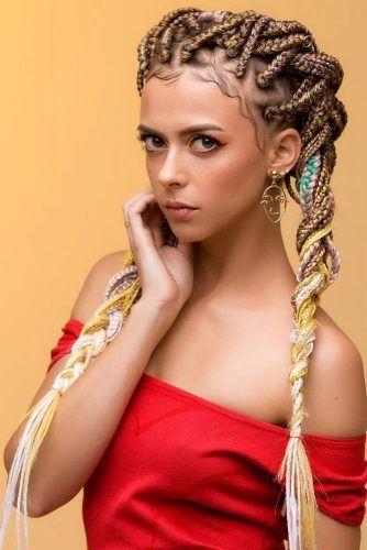 Double Braids Style #braids #boxbraids