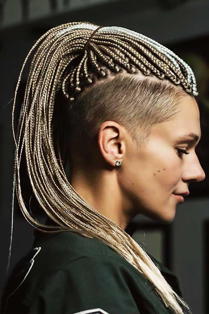 Box Braids With Undercut #braids #boxbraids