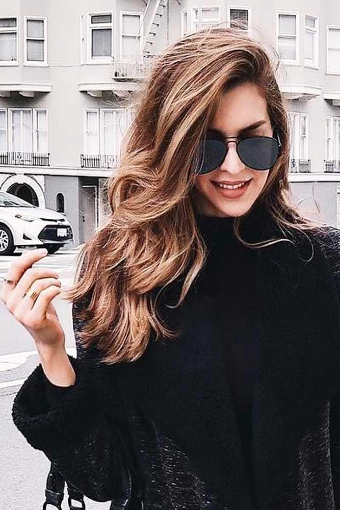 Loose And Wavy Long Haircuts Brown #longhair #layeredhair