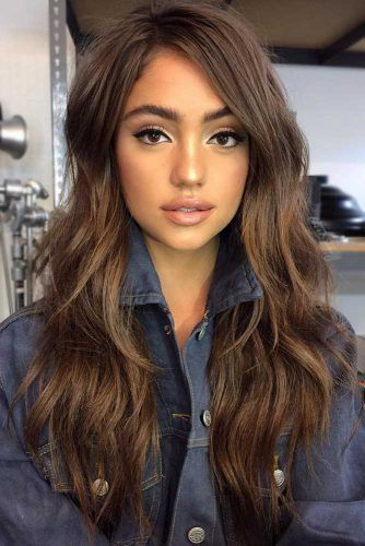Gorg Brown Hair With Highlights #longlayeredhaircuts #layeredhaircuts #haircuts #longhair