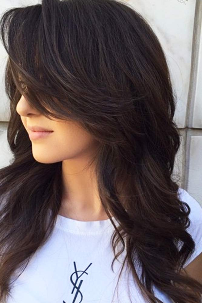 Add Voluminous Bangs #longlayeredhaircuts #layeredhaircuts #haircuts #longhair