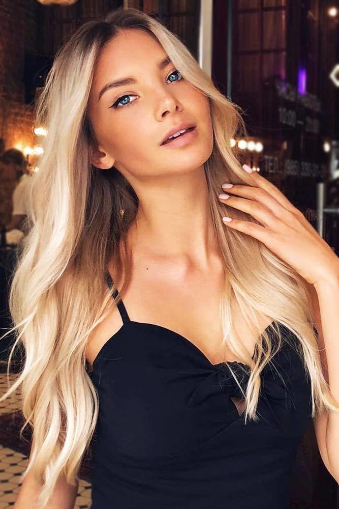 Wavy Blonde Balayage #longhair #layeredhair