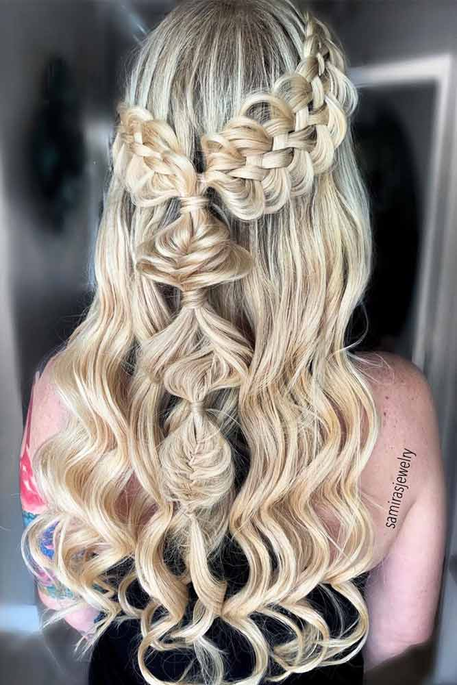 Half Up Half Down Braid #hairstylesforroundfaces #hairstyles #faceshapes