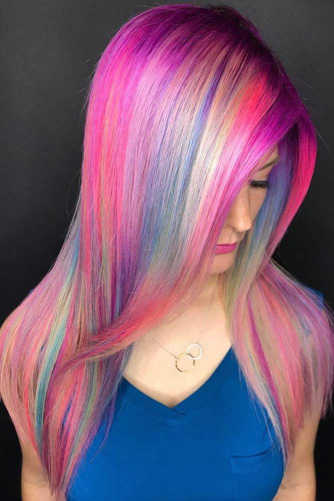 Highlighted Cotton Long #cottoncandyhair #pinkhair