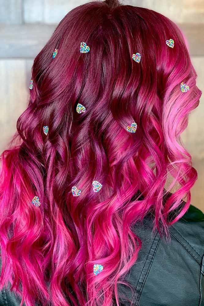 Dark To Light Candy Hair Balayage #cottoncandyhair #pinkhair