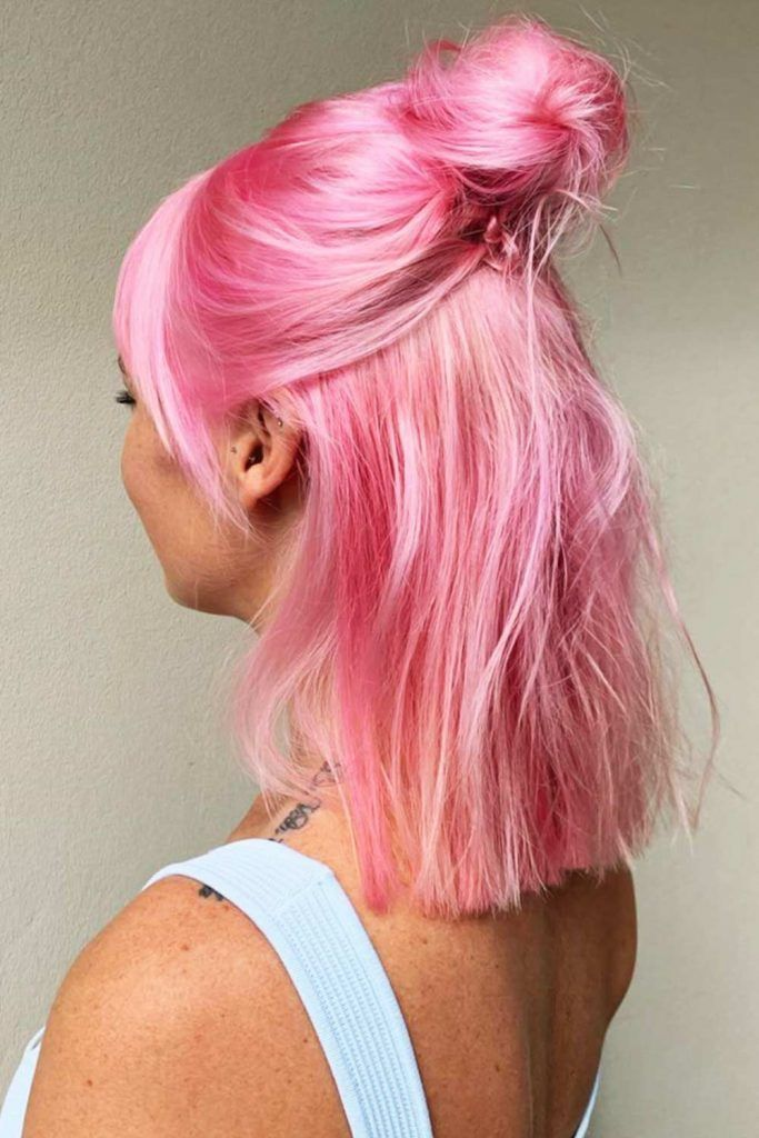 Cotton Candy Hair Bob #cottoncandyhair