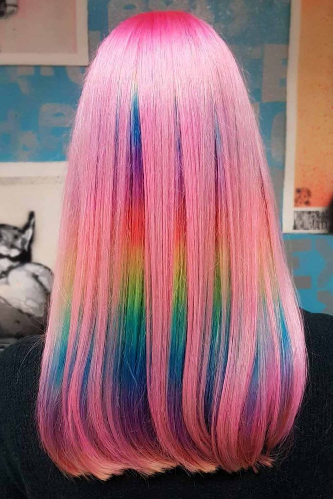 Colorful Cotton Hair Rainbow #cottoncandyhair