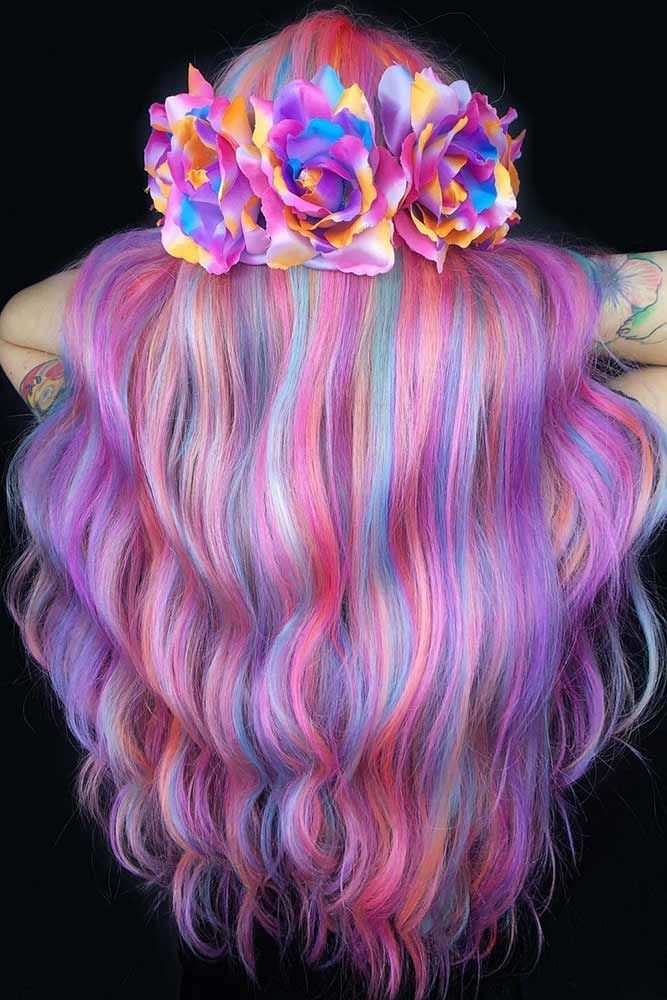 Highlighted Cotton Waves #cottoncandyhair #pinkhair