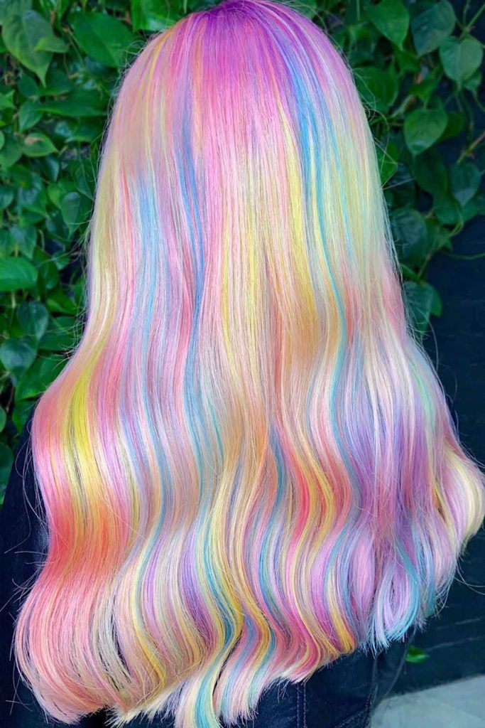 Highlighted Cotton Blunt #cottoncandyhair