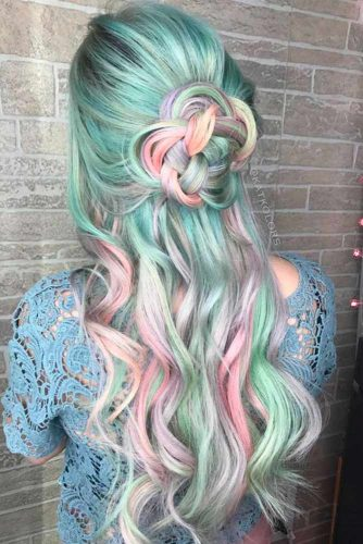 Beautiful Cotton Candy Hair picture2