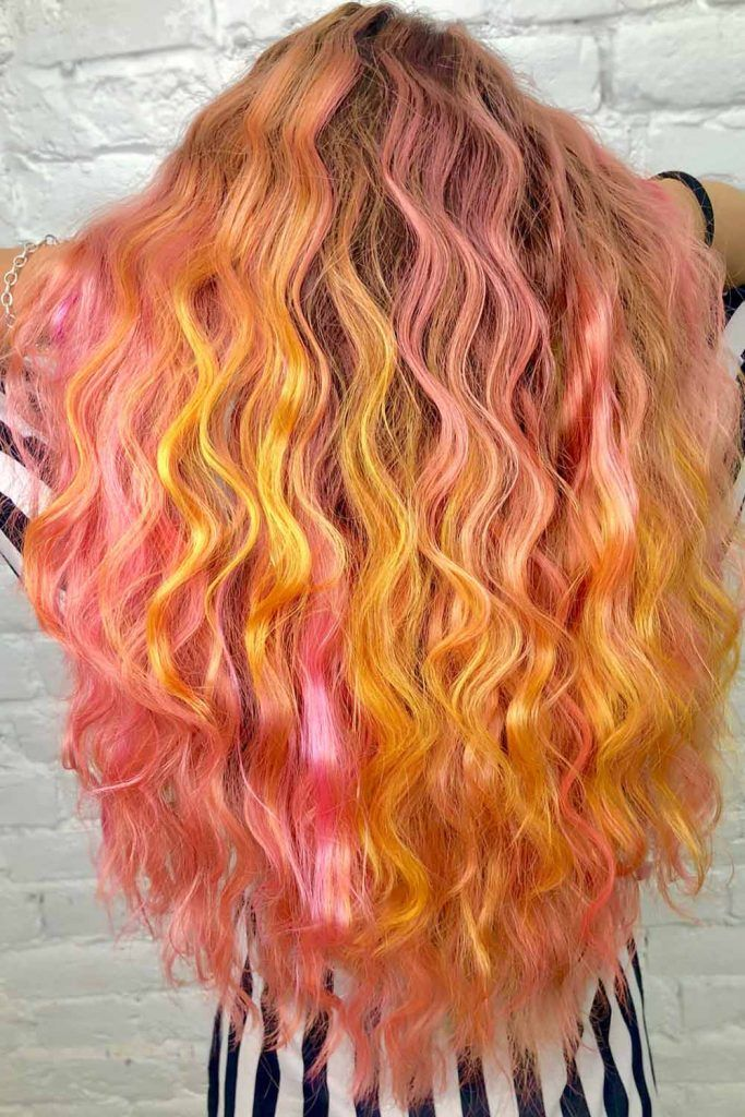 Amazing Cotton Candy Hair Waves #cottoncandyhair