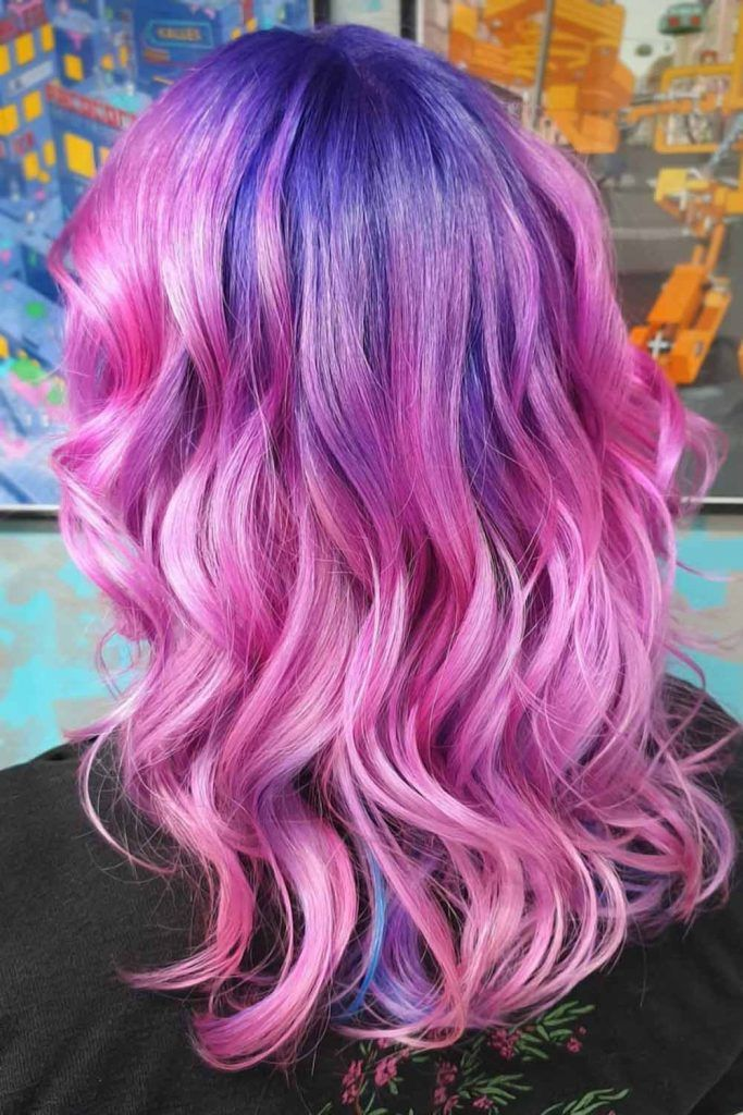 Purple & Cotton Candy Hair Ombre #cottoncandyhair