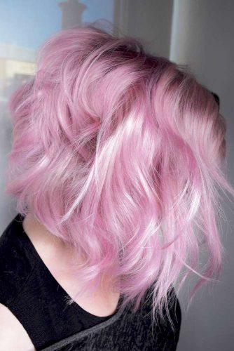 Hair Color - Pastel Pink Highlighted #pink #highlights