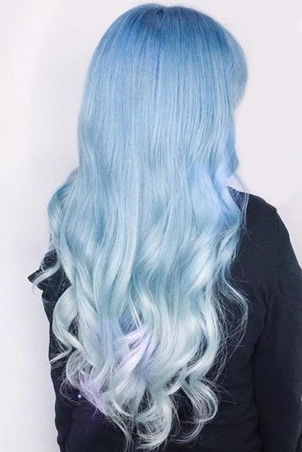 Hair Color - Cloud Blue Ombre #bluehair #ombre