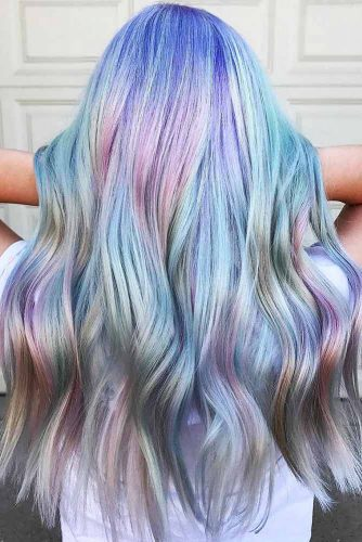 Sapphires And Amethysts Holographic #purplehair #bluehair #holographichair