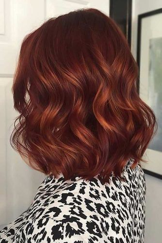 Medium Length Rich Red #haircolorsforwinter