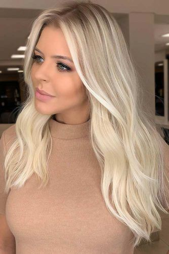 Rooted Platinum Blonde#haircolorsforwinter