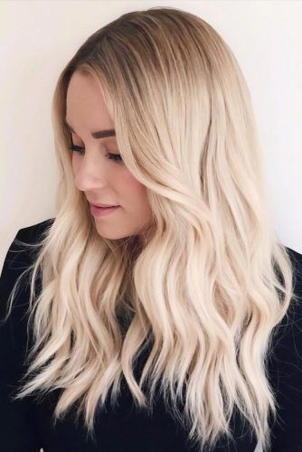 Rooted Blonde Layers #haircolorsforwinter