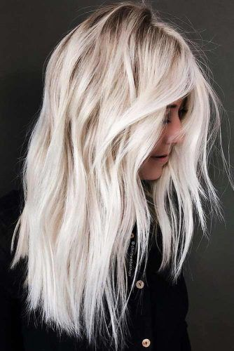 Rooted Cold Blonde #haircolorsforwinter