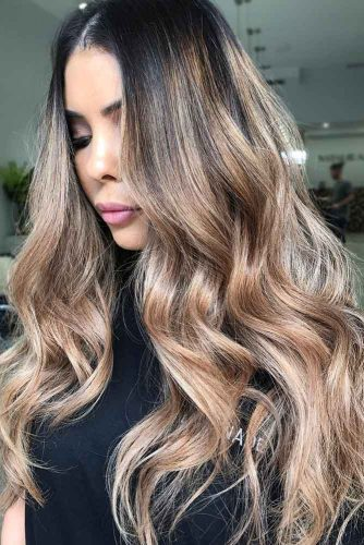 Hair Color - Sandy Beige Ombre #brunette #ombre