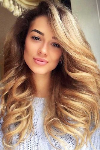 Beautiful Light Caramel Tones Thick Hair #longhair #brownhair #thickhair
