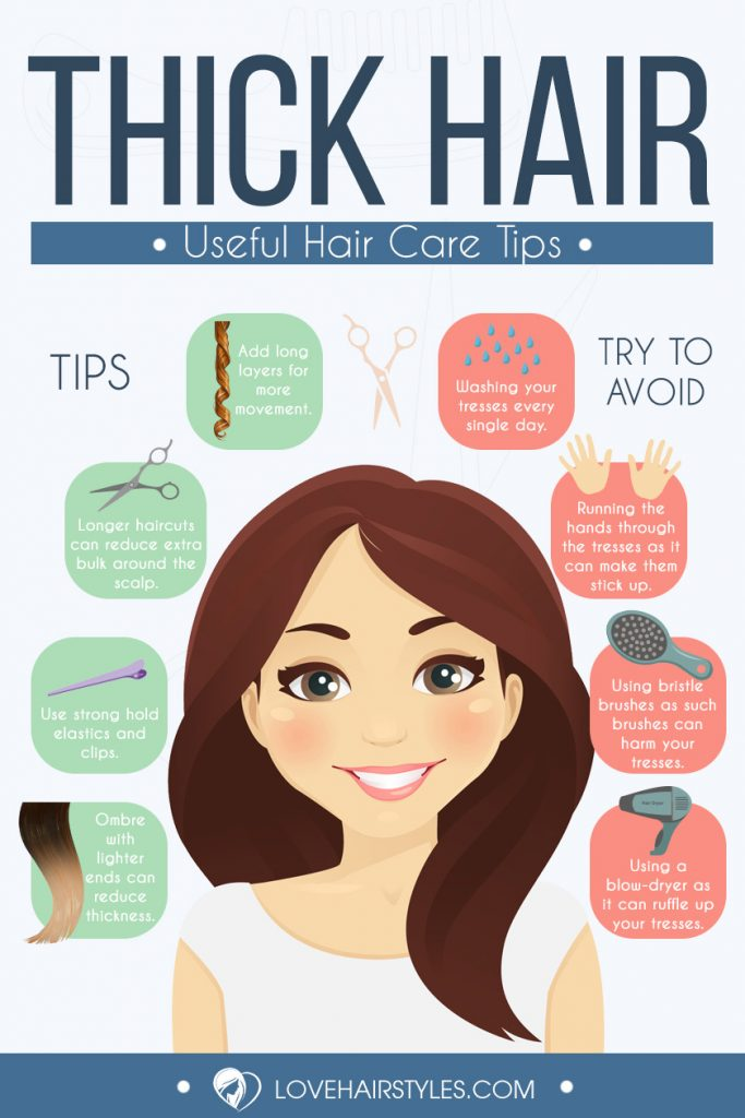 Fun And Fancy Hairstyles For Thick Hair Infographic